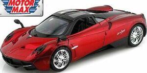 Motor-Max-79312-Pagani-Huayra-Diecast-Modelo-Coche-Rojo-Cuerpo-Negro-Techo-2012-1-24th