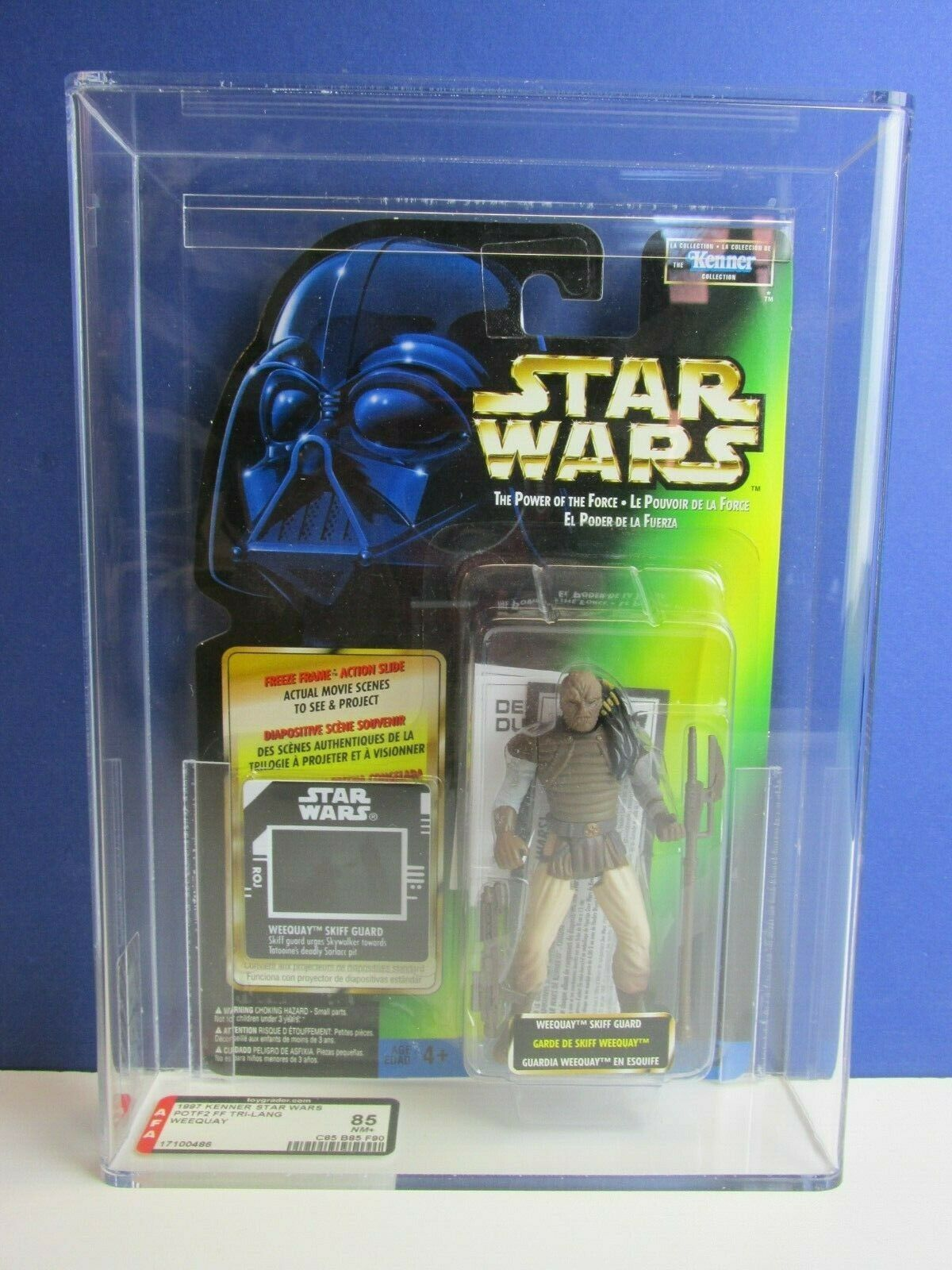 AFA STAR WARS freeze frame WEEQUAY ACTION FIGURE kenner POWER OF THE FORCE 2 ukg