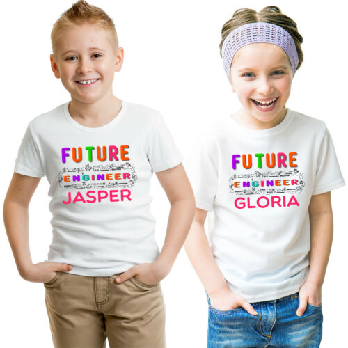 Personalized Add Your Name Future Engineer T-Shirt Kids
