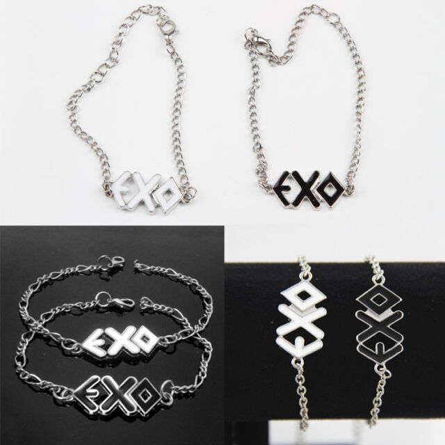 Fashion EXO Team Personality Logo Letter Chain Couples Bracelet Lovers Jewelry