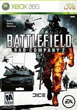 XBOX 360 Battlefield: Bad Company 2 Video Game two online multiplayer war fps