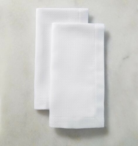 SFERRA Blaine Napkins White Set of 4