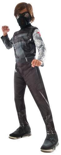 Winter Solider Boys Fancy Dress Superhero Childrens Kids Childs Bucky Costume