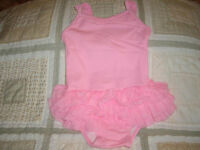 Baby Girls Size 12-18m Old Navy Pink Tutu 1pc Swim Suit Generous Fit