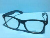 **NEW** Retro Clark Kent Clear Lens Wayfarer Eye Glasses Black