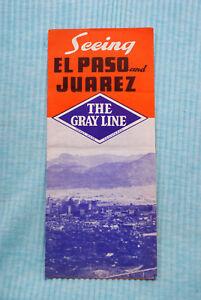 Gray Line Bus Tour - Seeing El Paso and Juarez - 1949