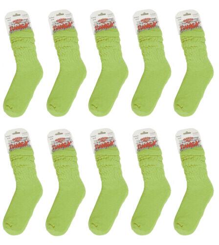10 Paar Shoppersocken Aerobicsocken Socken Tanzen Yoga Grün Gr 35-38 39-42