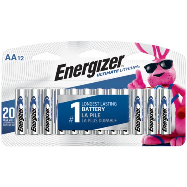12 x Energizer AA Ultimate Lithium L91SBP Longest Lasting Batteries  EXP 12/2037