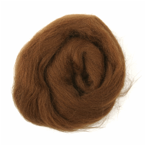TRIMITS Natural 100/% Wool Roving For Needle Felting 10g COFFEE