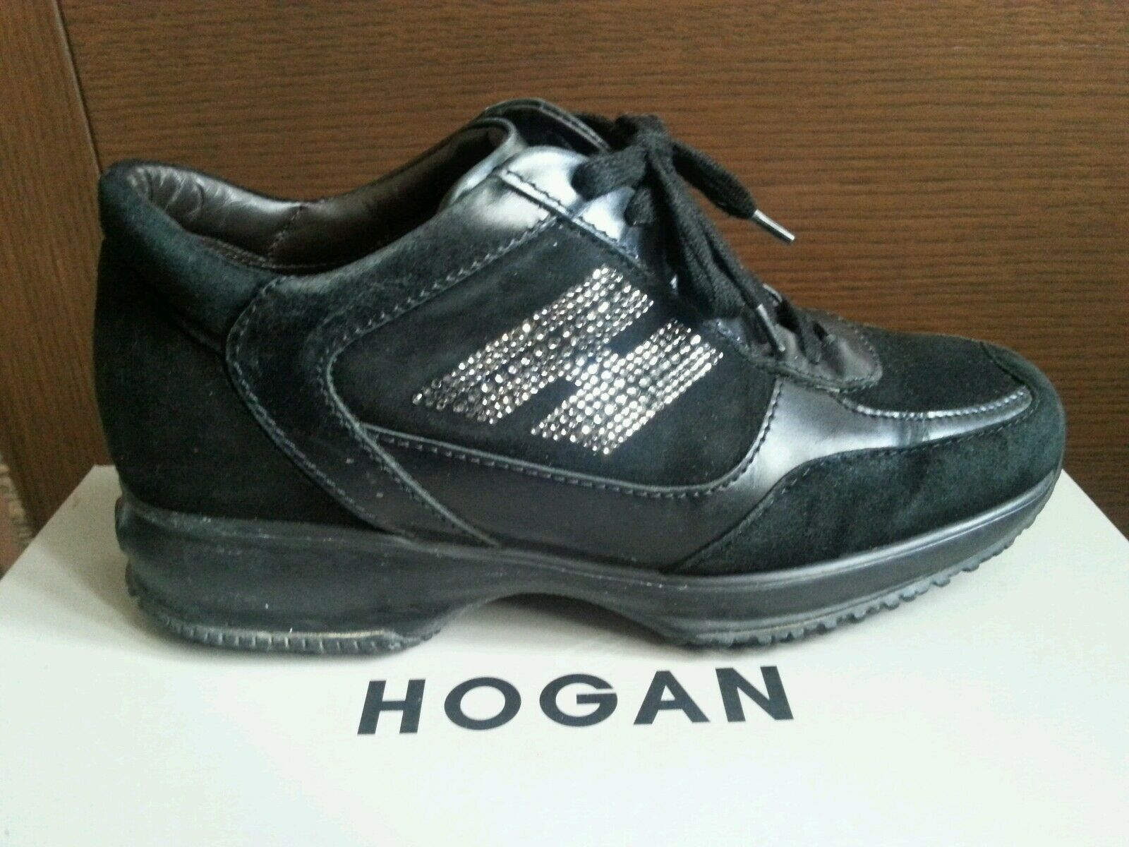 scarpe hogan donna interactive n.37 nero con strass