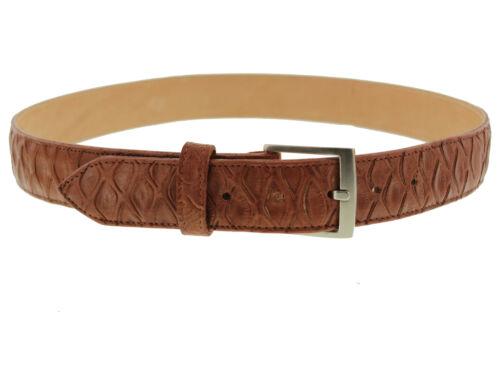 Mens Cowboy Belt Cognac Anteater Print Genuine Leather Western Silver Buckle
