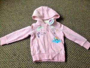 Licensed Girls My Little Pony Shell Hooded Jacket Kids Zipped Coat 2-3 Years