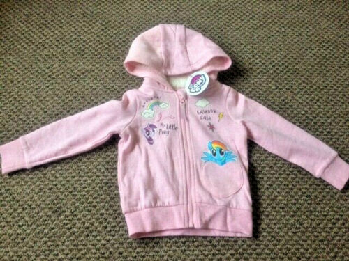 Girls My Little Pony Hooded Jacket Sizes 2-3 up to 6-7 New!!!