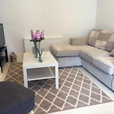 milan soft touch grey trellis modern geometric living room area rug