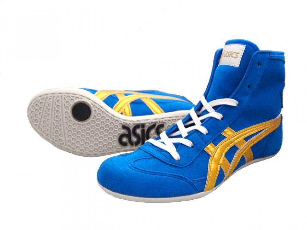 ASICS JAPAN Wrestling shoes EX-EO TWR900 original color blueee x gold