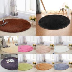 Details zu Hochflor Langflor Wohnzimmer Shaggy RUNDER Teppich Rund Unifarbe  Florhöhe 4cm