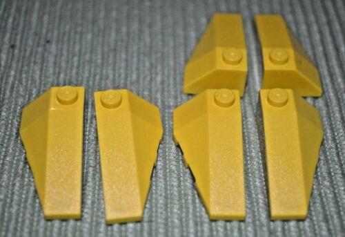 (6 - 3 pair) 2x4 Yellow Taper Sloped Bricks ~ Lego  ~ NEW ~