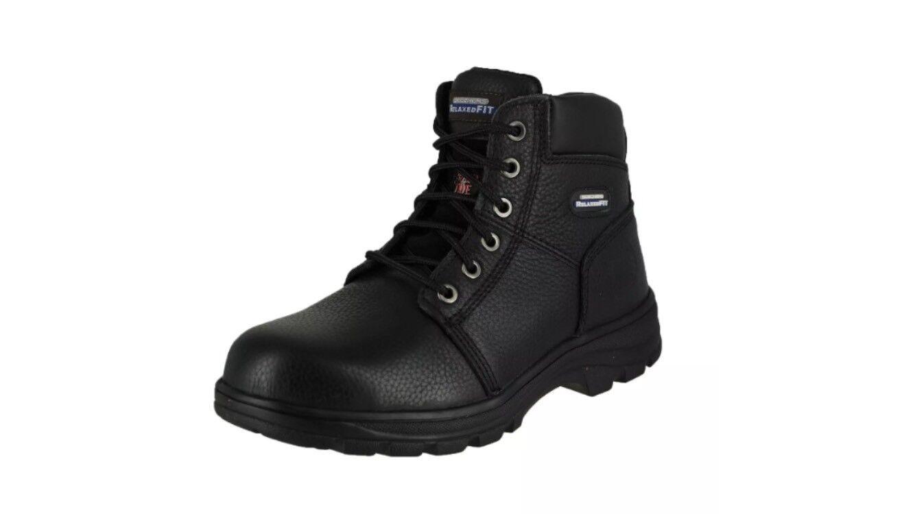 1f5d06cfc12 Skechers Men s Workshire Condor Condor Condor Black WORK Boots 77010 BLK  Size 13 def803