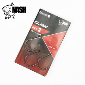 NASH Carp Fishing Hooks PINPOINT CLAW Barbed /& Barbless