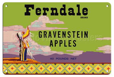 "TIN SIGN /""Redhead Apples/"" Food wall decor Farm Vintage Fruit Kitchen Mancave GIF"