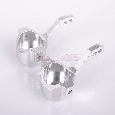 L//R Silver For RC 1:10 Car Buggy Truck 102011 HSP 02131 Steering Hub Carrier