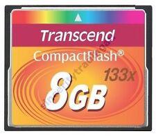 TRANSCEND COMPACT FLASH 133X CF 8GB 8G 8 G GB MEMORY
