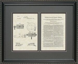 Patent Art - Gas Motor Engine - Auto Mechanic Print Gift O5701