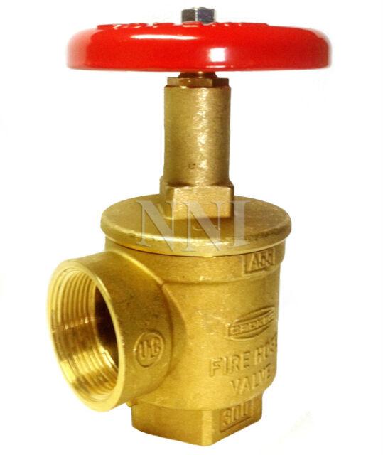 "Giacomini A56005  2-1//2/"" Fire Hose Angle valve Female NPT x  Male NST UL//FM"
