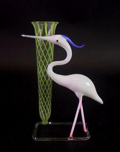 filigrane-Lauscha-Vase-mit-Banddekor-und-Kranich-Reiher-1950ies