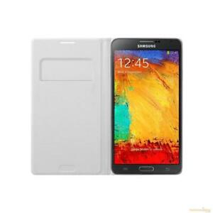 best service 15c3c 7eee7 Details about Samsung Wallet Flip Cover Case for Samsung Galaxy Note 3 -  Classic White