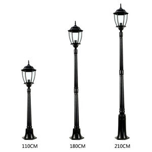 Image Is Loading 3 Sizes Garden Lights Lantern Lamp Black LED