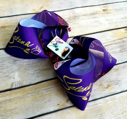 Details about  /Selena hair bow 7 inches