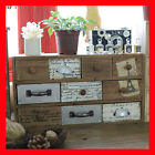 French Provincial Timber Pigeon Hole Mounted Chest of 10 Drawers Storage B40