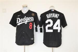 Men's Los Angeles Dodgers #24 Kobe Bryant Black KB Patch MLB Cool ...