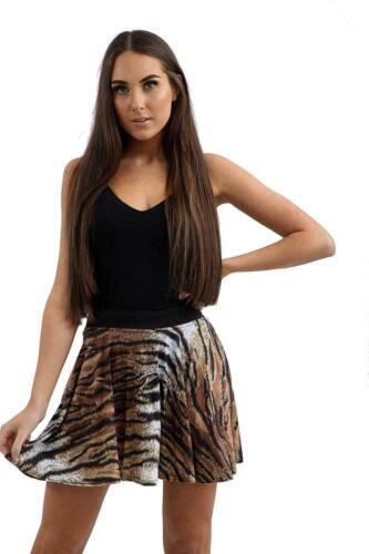 New Women/'s  Ladies Animal Printed Midi Bodycon Dress Top Skirt Leggings 8-14