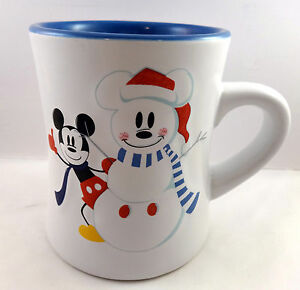 Mickey Mouse Snowman Coffee Tea Cup Mug Disney Magical Stoneware