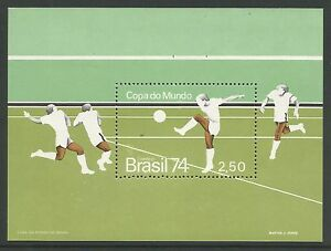 Bresil-1974-Coupe-Du-Monde-De-Football-Miniature-Feuille-SG-MS1501-inutilise