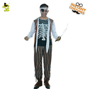 Men's High Seas Pirate costume adult halloween fancy dress Buccaneer Costumes
