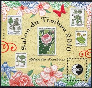 Grosses Soldes Timbre France Bloc Cnep N°56 Neuf** La Flore Salon Du Timbres A Paris 2010