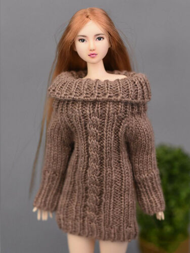 Brown Handmade Knitted Woven Sweater For 1//6 Doll Clothes Tops Doll Accessory