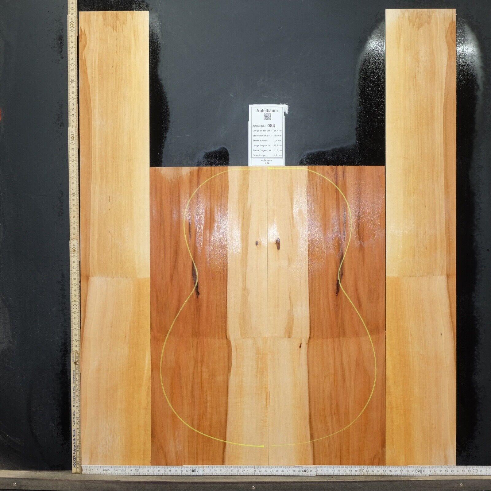 Tonewood Apfelbaum Apfel Tonholz Guitar Builder Acoustic Backs and sides SET 084