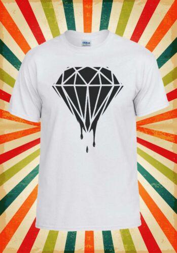 Goutte Diamant Noir Swag Hipster Hommes Femmes Débardeur Tank Top Unisexe T Shirt 331