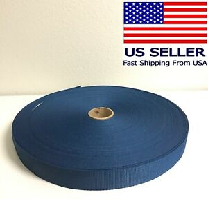 """Shipped from The USA! Webbing Polypropylene 1/"""" Inch Red 100 Yard Roll"""