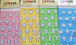 Set-of-4-Cute-Koala-Tea-Towels-Linen-Australia-Souvenir-Kitchenware-Tea-Towel