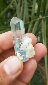 98.55 CT Natural Color perfect terminated Aquamarine Crystal From pakistan