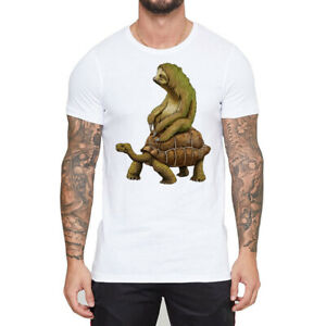 Funny-T-shirts-Men-039-s-Zootopia-Tortoise-Sloth-Design-Short-Sleeve-Tops-Tee-shirts