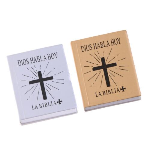 2 Stücke 1//6 Skala Abdeckung Bibel Buch für 12 zoll Puppen Action figuren