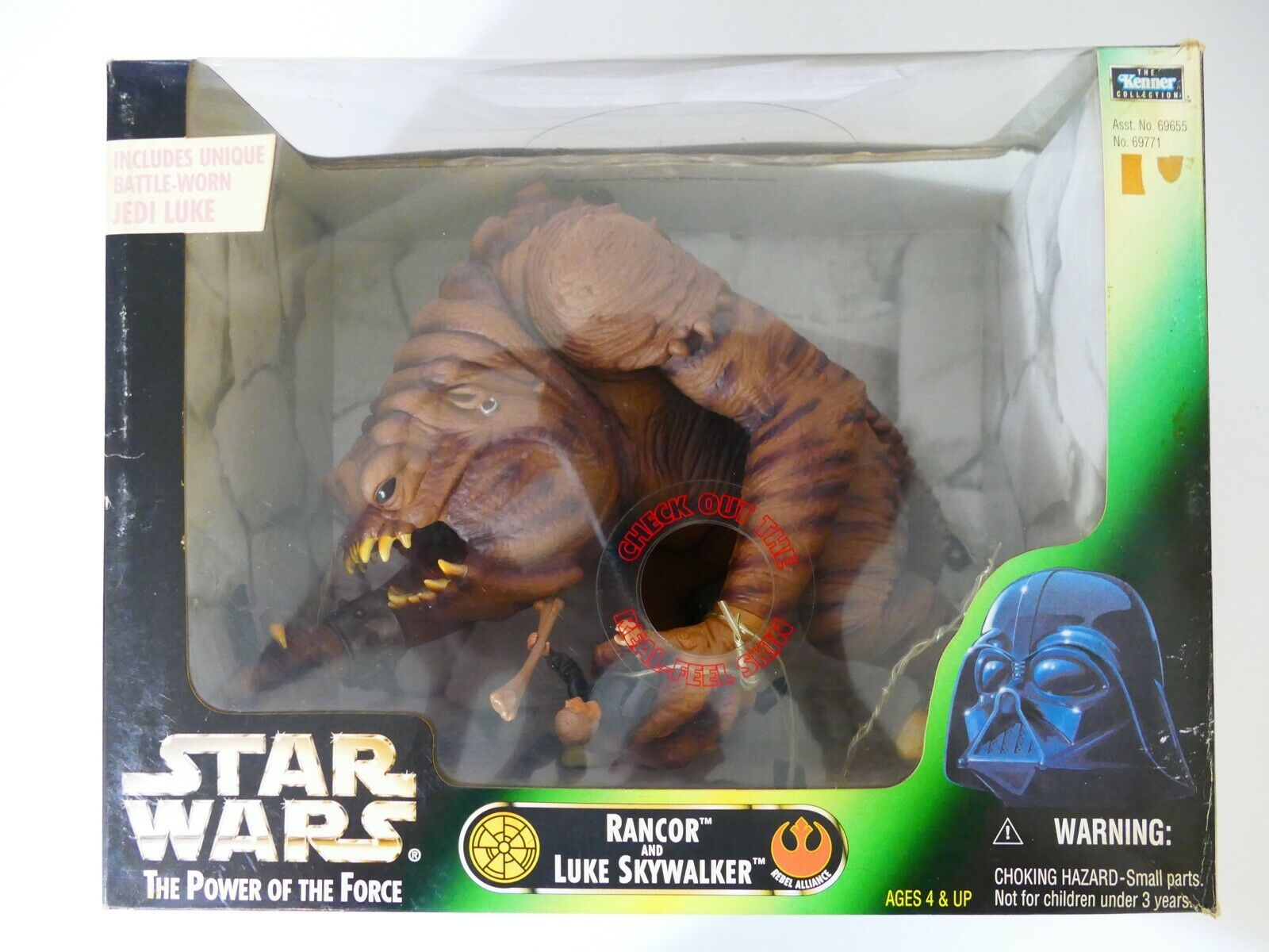 STAR WARS 1998 The The The Kenner Collection Rancor with Luke Skywalker a51e0f