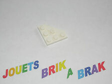 2450 NEUF Dark Bluish Gray LEGO 10 Pièce Plaque Coin en diagonale 3x3 gris foncé