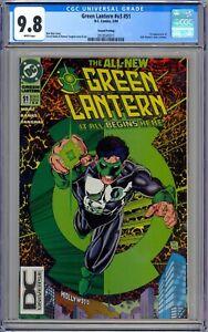 CGC 9.8 Green Lantern #51 Rare Second Print DC Universe Logo Variant. HTF.
